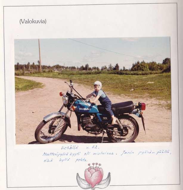 Henkka Telakanavalla Jarin Suzukia kesyttämässä 1982